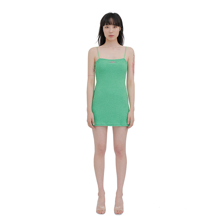 C TOWEL MINI DRESS_GREEN